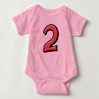 Silly Number 2 red Infant T-shirt