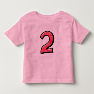Silly Number 2 red Kids T-shirt