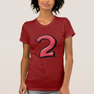 Silly Number 2 red Ladies T-shirt