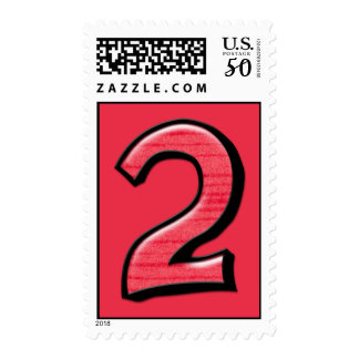 Silly Number 2 red Stamp