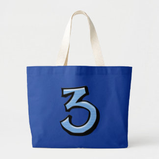 Silly Number 3 blue Bag