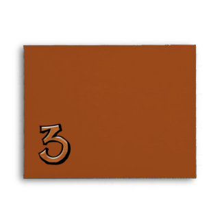 Silly Number 3 chocolate Note Card Envelope