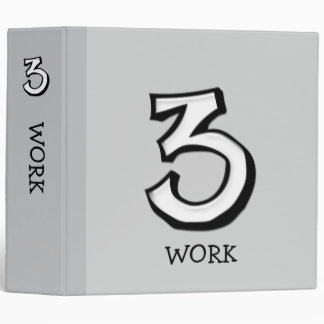 Silly Number 3 white Home Office Binder