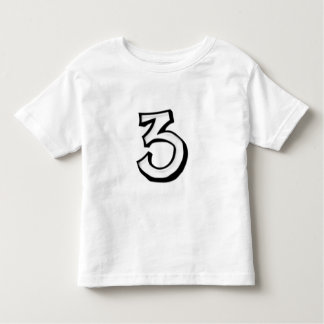 Silly Number 3 white Kids T-shirt