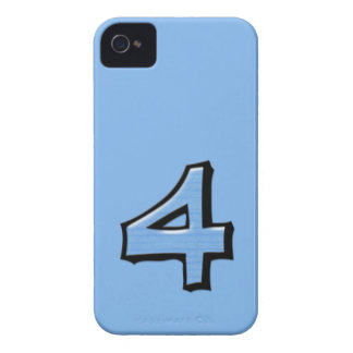 Silly Number 4 blue BlackBerry Bold Case-Mate iPhone 4 Case-Mate Case