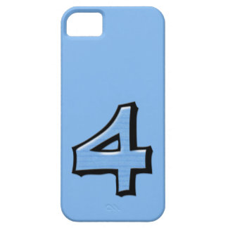 Silly Number 4 blue iPhone 5 Case-Mate iPhone SE/5/5s Case