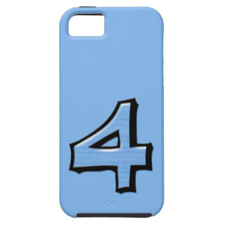 Silly Number 4 blue iPhone 5 Case-Mate Tough™ iPhone SE/5/5s Case