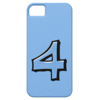 Silly Number 4 blue iPhone Case-Mate ID iPhone SE/5/5s Case