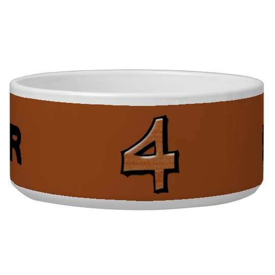 Silly Number 4 chocolate Bowl