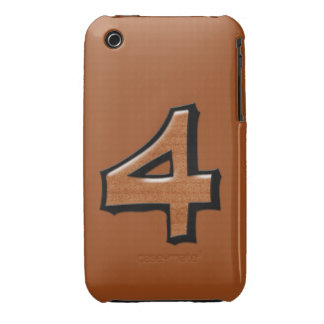 Silly Number 4 chocolate iPhone 3G/3GS Case-Mate iPhone 3 Cover