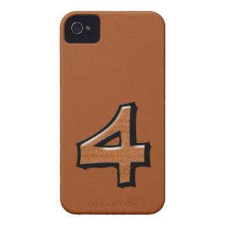 Silly Number 4 chocolate iPhone 4/4S Case-Mate iPhone 4 Case