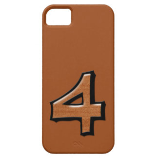 Silly Number 4 chocolate iPhone 5 Case-Mate iPhone SE/5/5s Case