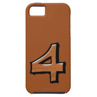 Silly Number 4 chocolate iPhone 5 Case-Mate Tough™ iPhone SE/5/5s Case