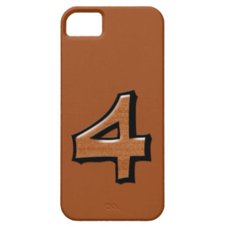 Silly Number 4 chocolate iPhone Case-Mate ID iPhone SE/5/5s Case