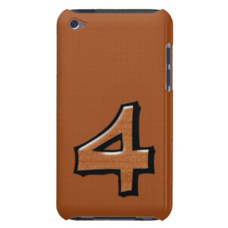 Silly Number 4 chocolate iPod Touch Speck iPod Case-Mate Case