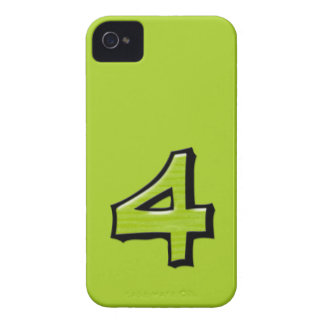 Silly Number 4 green BlackBerry Bold Case-Mate Case-Mate iPhone 4 Case
