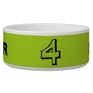 Silly Number 4 green Bowl