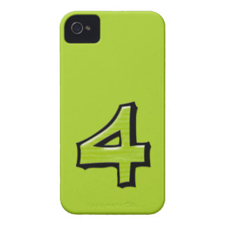 Silly Number 4 green iPhone 4/4S Case-Mate Case-Mate iPhone 4 Case