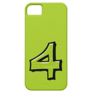 Silly Number 4 green iPhone 5 Case-Mate iPhone SE/5/5s Case
