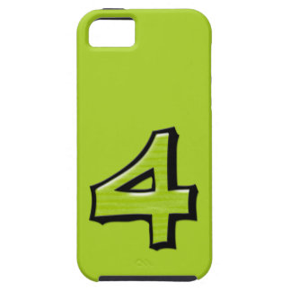Silly Number 4 green iPhone 5 Case-Mate Tough™ iPhone SE/5/5s Case