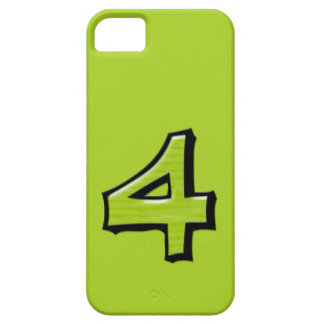 Silly Number 4 green iPhone Case-Mate ID iPhone SE/5/5s Case