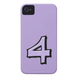 Silly Number 4 lavender BlackBerry Bold Case-Mate iPhone 4 Cover