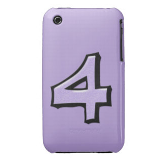Silly Number 4 lavender iPhone 3G/3GS Case-Mate Case-Mate iPhone 3 Case