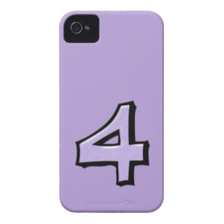 Silly Number 4 lavender iPhone 4/4S Case-Mate iPhone 4 Cover