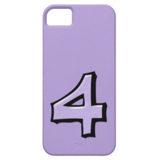 Silly Number 4 lavender iPhone 5 Case-Mate iPhone SE/5/5s Case