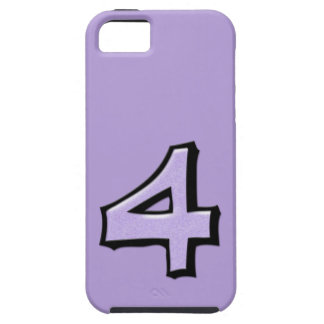 Silly Number 4 lavender iPhone 5 Case-Mate Tough™ iPhone SE/5/5s Case
