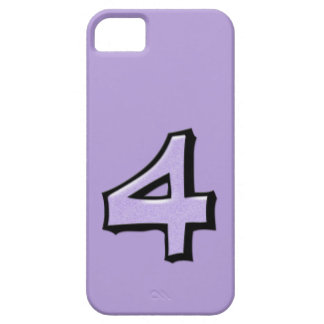 Silly Number 4 lavender iPhone Case-Mate ID iPhone SE/5/5s Case