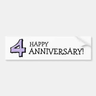 Silly Number 4 lavender white Anniversary Sticker