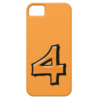 Silly Number 4 orange iPhone 5 Case-Mate iPhone SE/5/5s Case