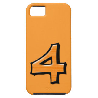 Silly Number 4 orange iPhone 5 Case-Mate Tough™ iPhone SE/5/5s Case