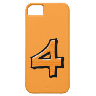 Silly Number 4 orange iPhone Case-Mate ID iPhone SE/5/5s Case