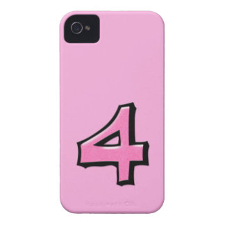 Silly Number 4 pink BlackBerry Bold Case-Mate iPhone 4 Covers