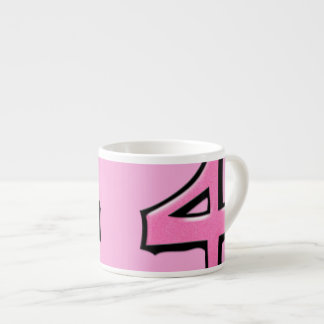 Silly Number 4 pink Espresso Mug