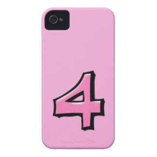 Silly Number 4 pink iPhone 4/4S Case-Mate