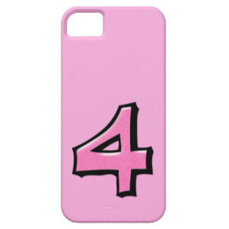 Silly Number 4 pink iPhone 5 Case-Mate iPhone 5 Cover
