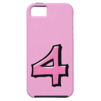 Silly Number 4 pink iPhone 5 Case-Mate Tough™ iPhone 5 Cases