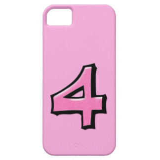 Silly Number 4 pink iPhone Case-Mate ID iPhone SE/5/5s Case