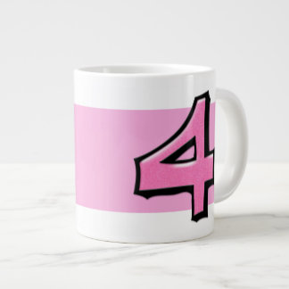 Silly Number 4 pink Jumbo Mug