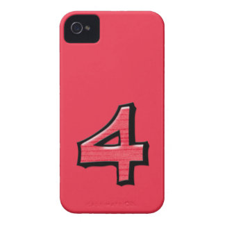Silly Number 4 red BlackBerry Bold Case-Mate iPhone 4 Case