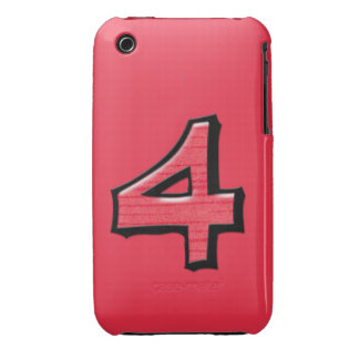 Silly Number 4 red iPhone 3G/3GS Case-Mate iPhone 3 Case-Mate Case