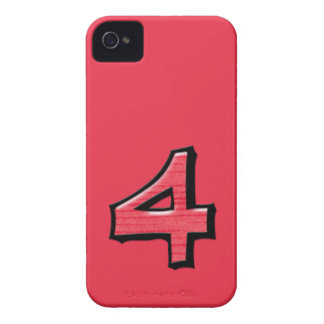 Silly Number 4 red iPhone 4/4S Case-Mate iPhone 4 Case-Mate Case
