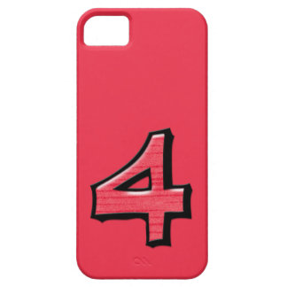 Silly Number 4 red iPhone 5 Case-Mate iPhone SE/5/5s Case