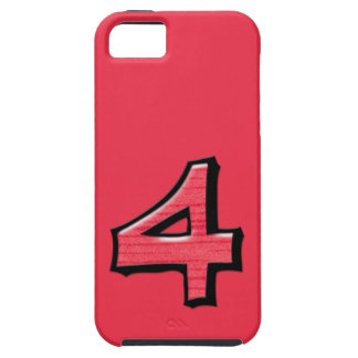 Silly Number 4 red iPhone 5 Case-Mate Tough™ iPhone SE/5/5s Case