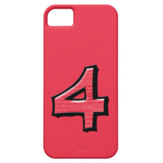 Silly Number 4 red iPhone Case-Mate ID iPhone SE/5/5s Case