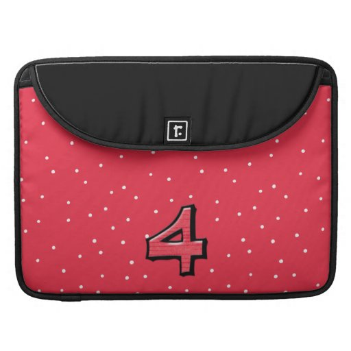 Silly Number 4 red MacBook Pro Sleeve