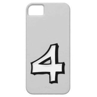 Silly Number 4 white iPhone 5 Case-Mate iPhone SE/5/5s Case